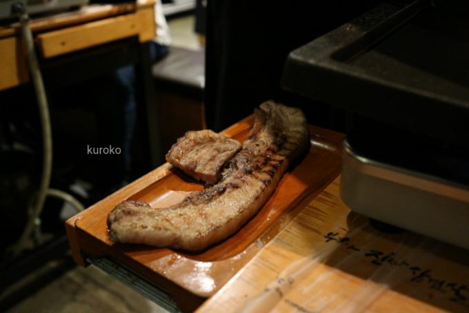 ハナムデジチプ炙ったお肉