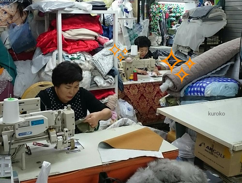 輝く東大門総合市場の職人姉妹