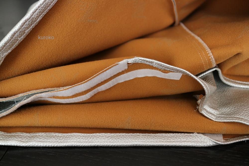 オーダーメイドのカバーの縫い目