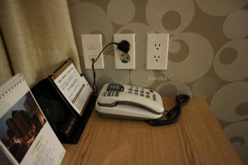ナインツリーホテルの日本の電化製品用コンセント画像