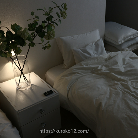 我が家のベッドルームの画像