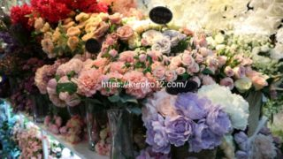 花市場のアートフラワーの画像