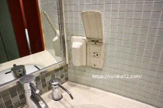 ソウルプリンスホテル日本電化製品用コンセントの画像