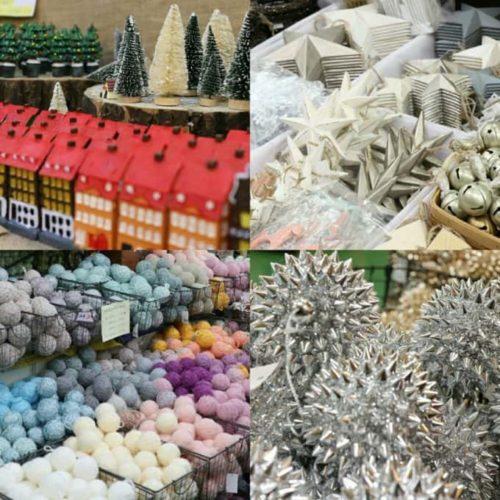 クリスマス花市場のガーランドの画像