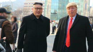 トランプ氏と金正恩氏のそっくりさんの画像
