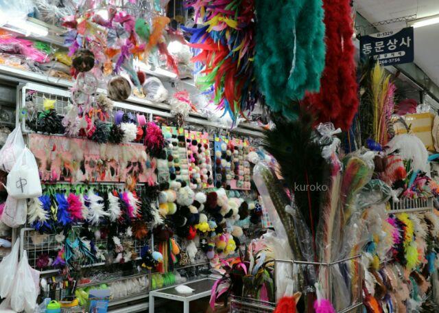 東大門総合市場の羽根の店の写真