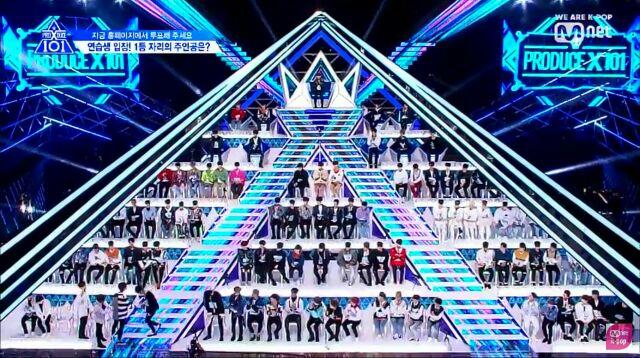 プデュXピラミッド状の1位から101位までの椅子
