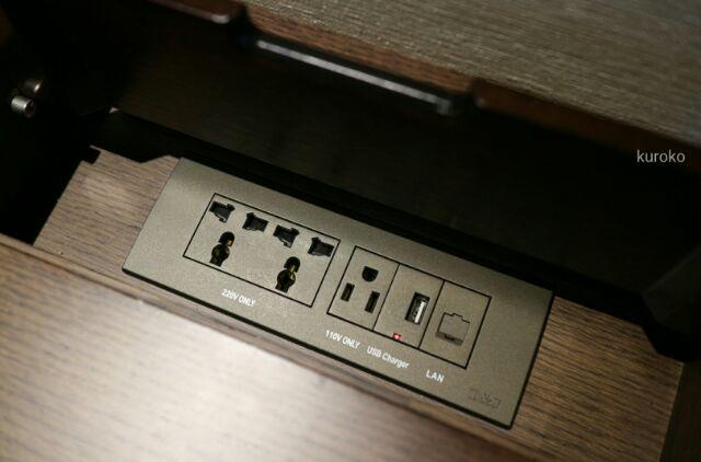 ロイヤルホテルソウルの日本電化製品対応のコンセント